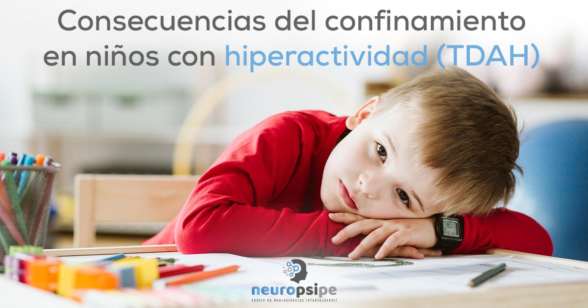 Consecuencias del confinamiento en niños con hiperactividad